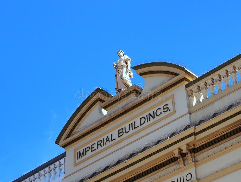 Statue on Historical Building, Bondi Junction, Sydney, Australia. Detail of an historical heritage listed commercial building in Bondi Junction, an inner city royalty free stock photos