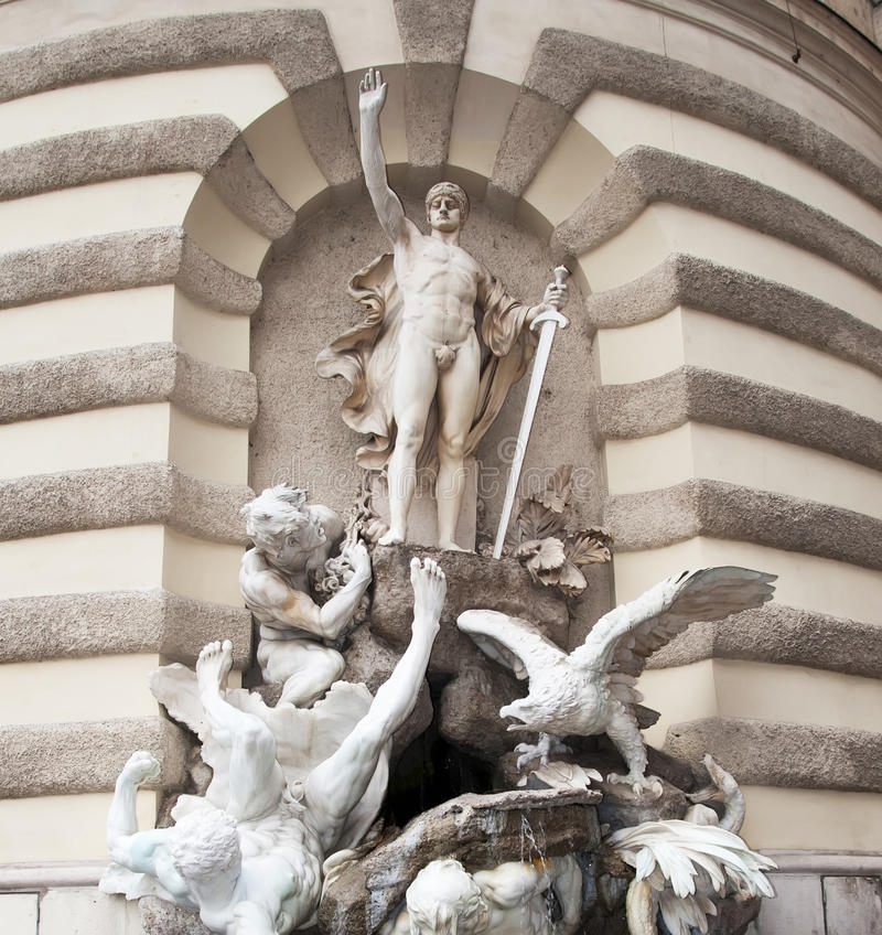Detail Hofburg, Wenen stock foto