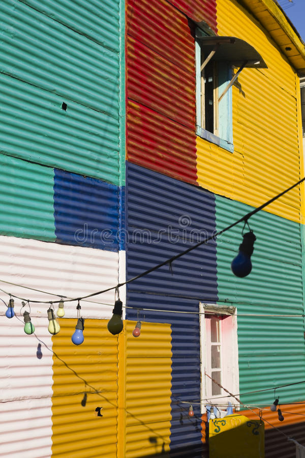Detail of home in La Boca. The colourful buildings of La Boca, Buenos Aires, Argentina royalty free stock images