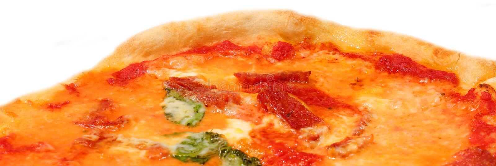 Detail of hot pizza royalty free stock photo