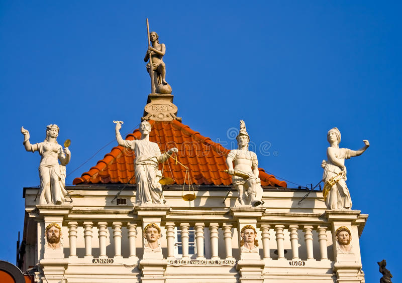 Download Detail Of A House In Gdansk Stock Photo - Image: 12405070