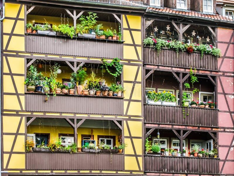 Detail Of Houses Merchant S Bridge, Erfurt, Germany Editorial Photography