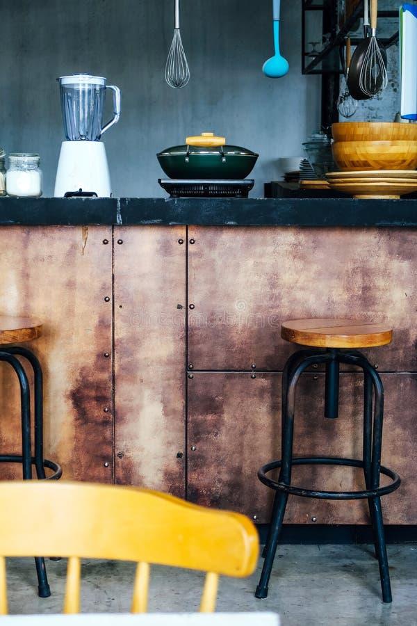Detail image of Loft kitchen design royalty free stock photos