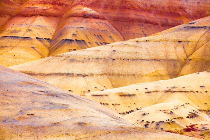 Detail image of the Painted Hills in Oregon, USA royalty free stock photos