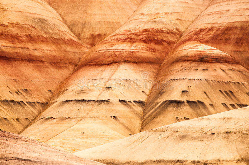Detail image of the Painted Hills in Oregon, USA stock images