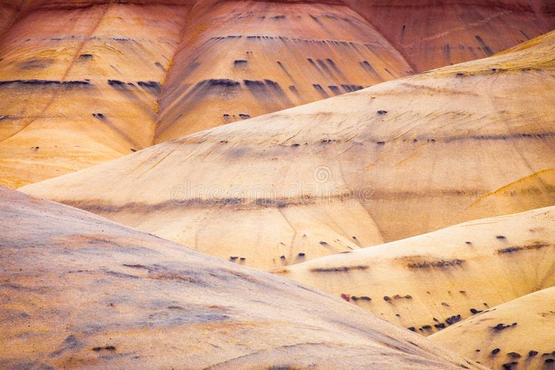 Detail image of the Painted Hills in Oregon, USA stock photos