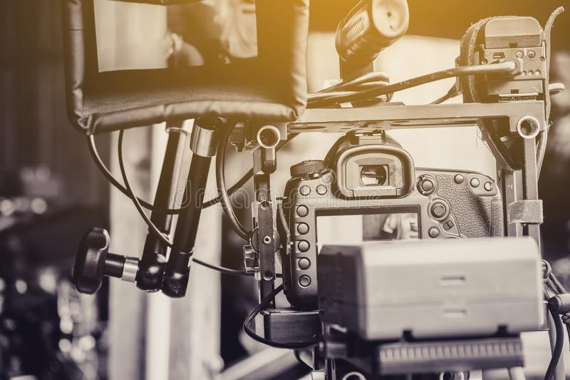 Video shoot professional. Detail image of video shoot professional royalty free stock photos