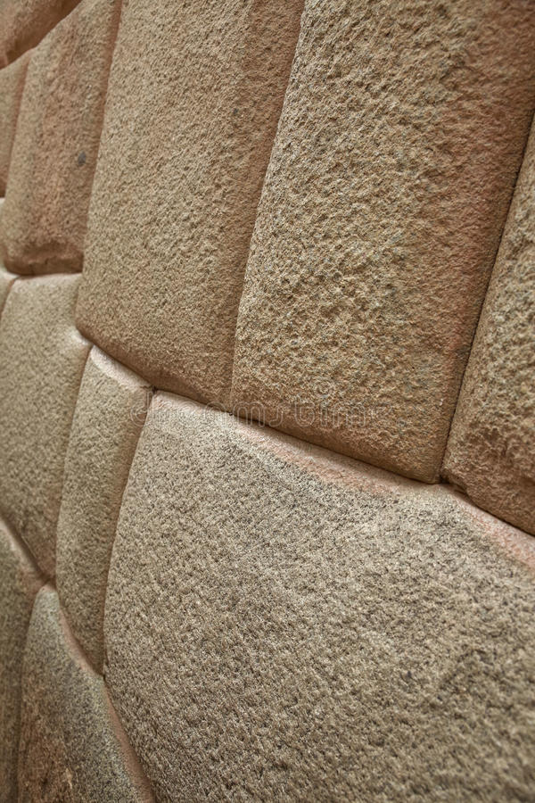 Detail of Inca wall in city of Cuzco. In Peru stock images