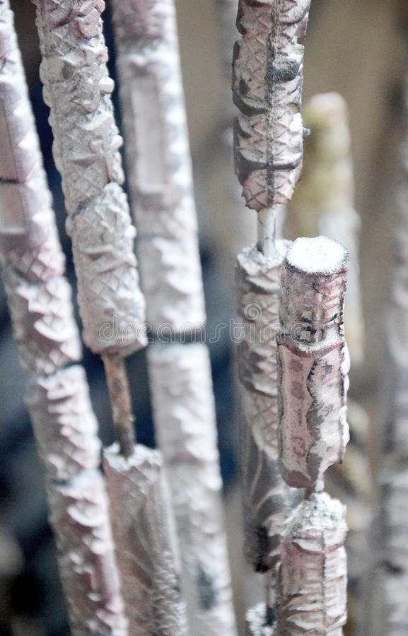 Detail of Incense Sticks after Being Burnt royalty free stock images