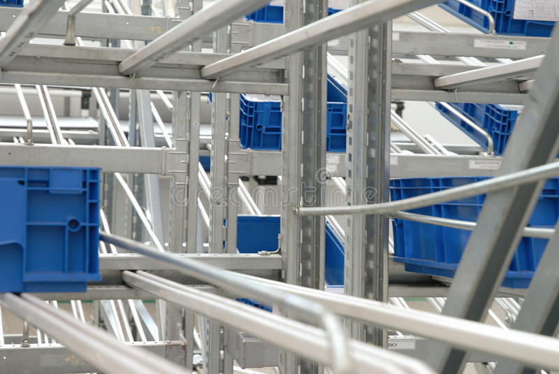 Detail of industrial warehouse stock photography