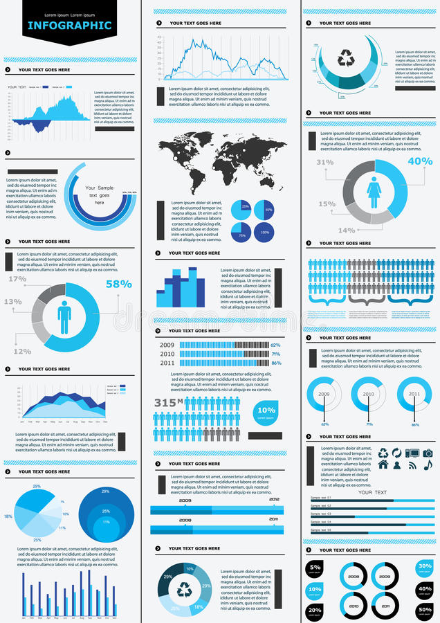 Detail infographic. Business chart collesction