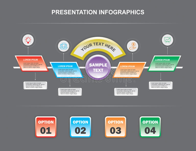 Detail Infographics royalty free stock image