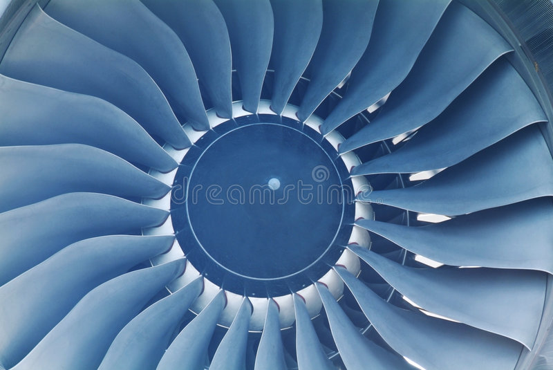Detail of jet engine royalty free stock image