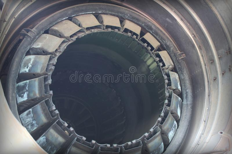 The nozzle of an old jet engine. royalty free stock photo