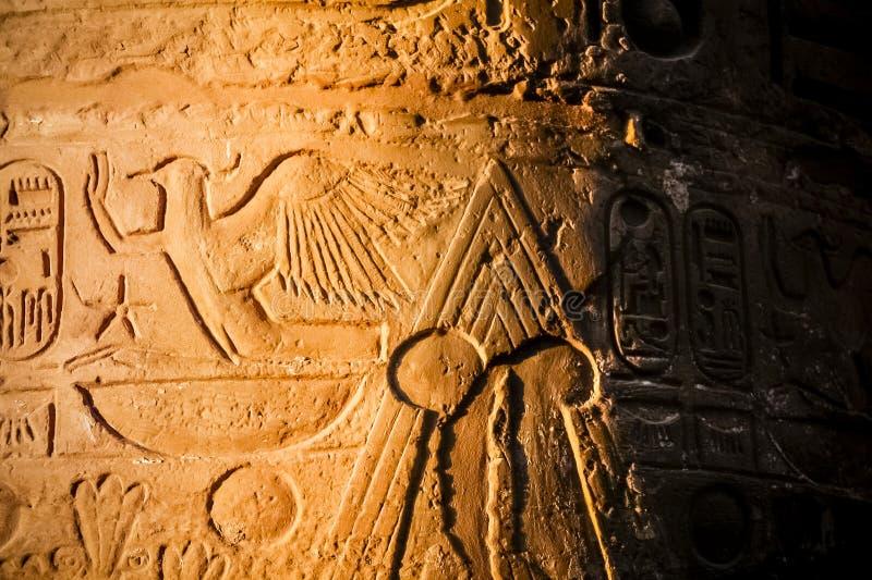 Detail in the Karnak temple. Luxor, Egypt royalty free stock photos