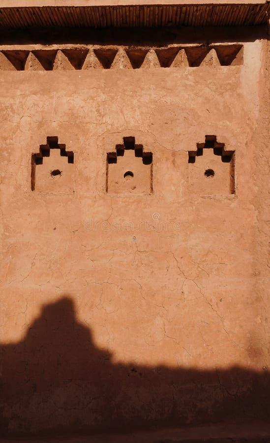 Detail of Kasbah Ait Ben Haddou, Morocco royalty free stock photo