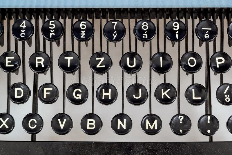 Download Detail Of Keys On Retro Typewritter Royalty Free Stock Photography - Image: 30936587