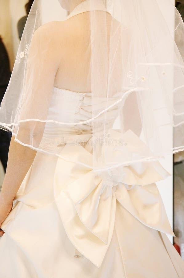 detail klänningbröllop arkivfoto