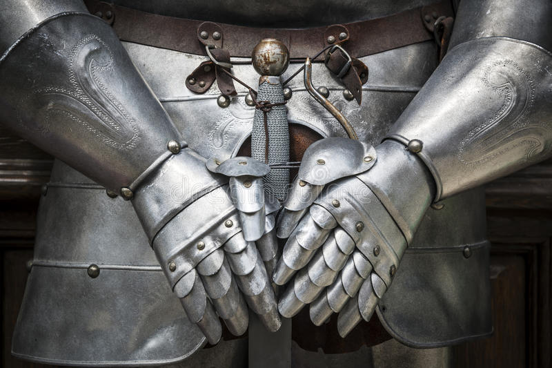 Detail knight armor stock photo
