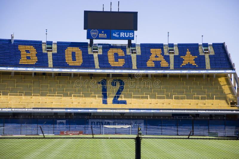 La Bombonera stadium of Boca Juniors in Argentina. Detail from La bombonera stadium in Buenos aires, Argentina. It is Boca Juniors owned stadium and was built at royalty free stock photo