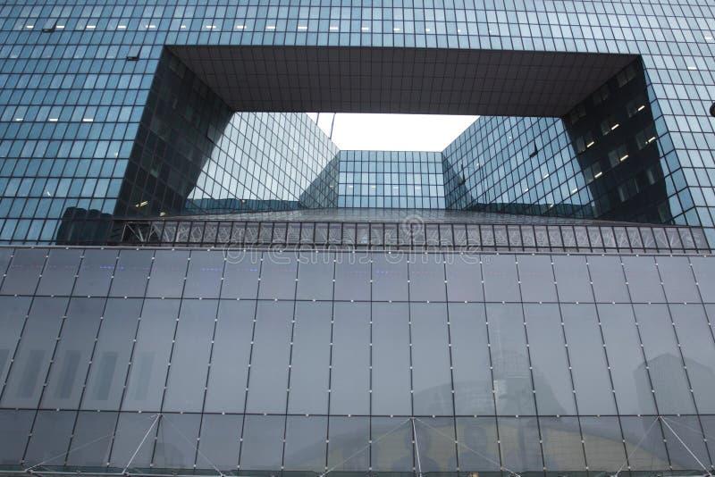 Detail of La defense architecture stock image