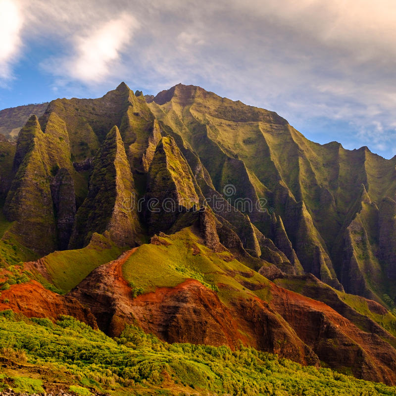 Free Detail Landscape View Of Na Pali Rugged Weathered Cliffs, Kauai, Hawaii Stock Images - 81344284