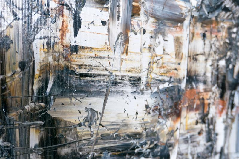 Detail of abstract art. Detail of large abstract art painting on canvas stock image