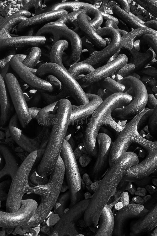 Download Detail Of A Large Anchor Chain Stock Photo - Image: 27352688