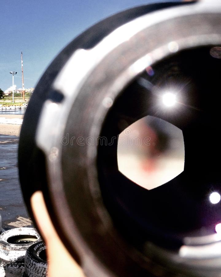 Lens detail stock photography