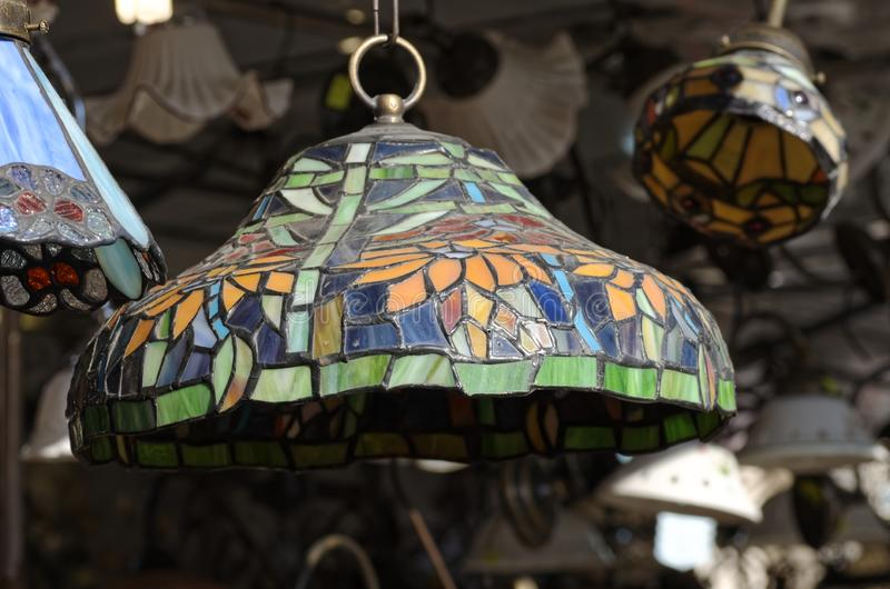 Detail of liberty lamp. In a open market stock image