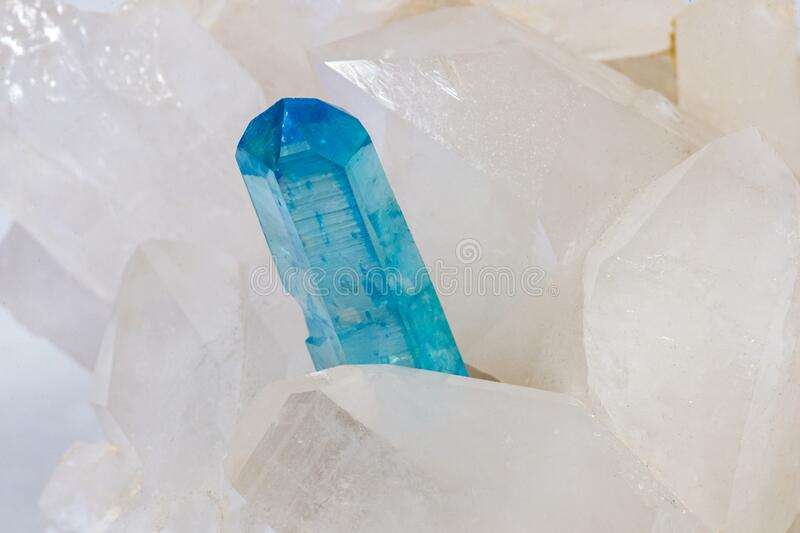 Hyaline quartz crystal and aureus crystal royalty free stock image