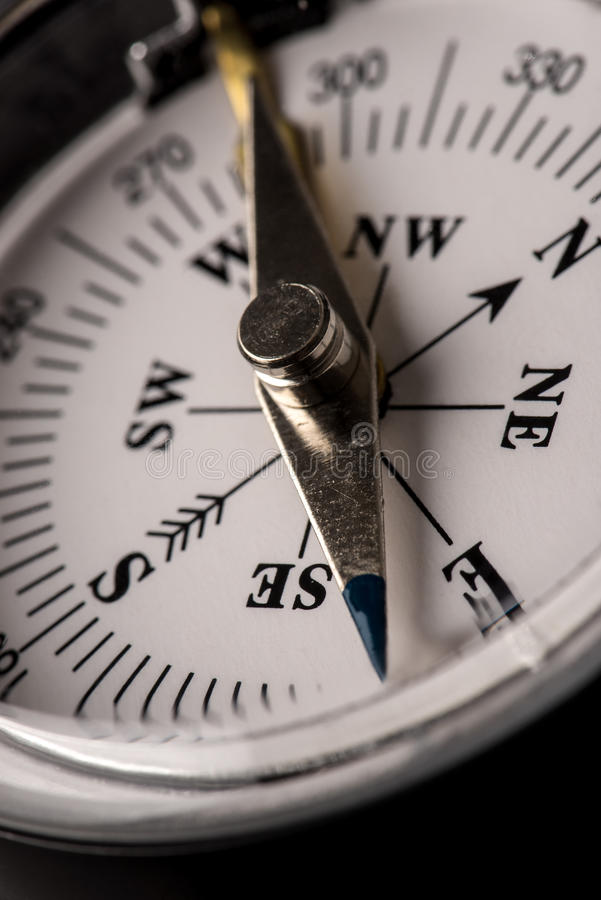 Detail of a magnetic compass royalty free stock image