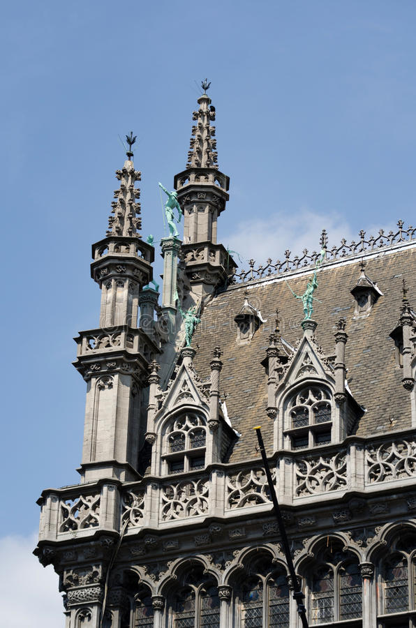 Detail of Maison du Roi in Brussels. Belgium. Located on Grote Markt (Grand Place stock photos
