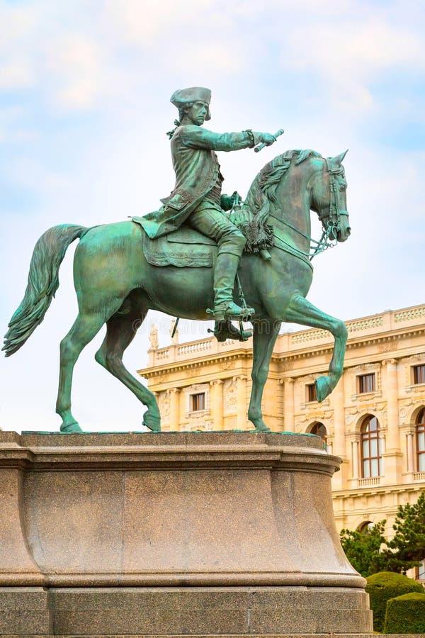 Detail of Maria Theresa monument, Vienna, Austria royalty free stock photography