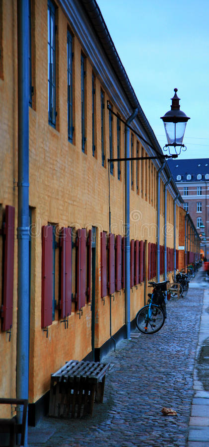 Detail of Marin's Houses in Copenhagen stock photos