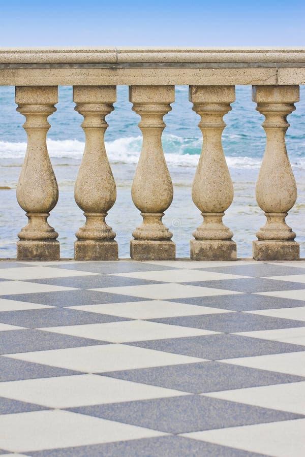 Detail of the Mascagni terrace & x28;Italy - Livorno city& x29; royalty free stock photos