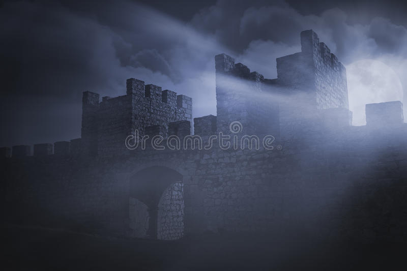 Detail of a medieval Iberian Castle stock photo