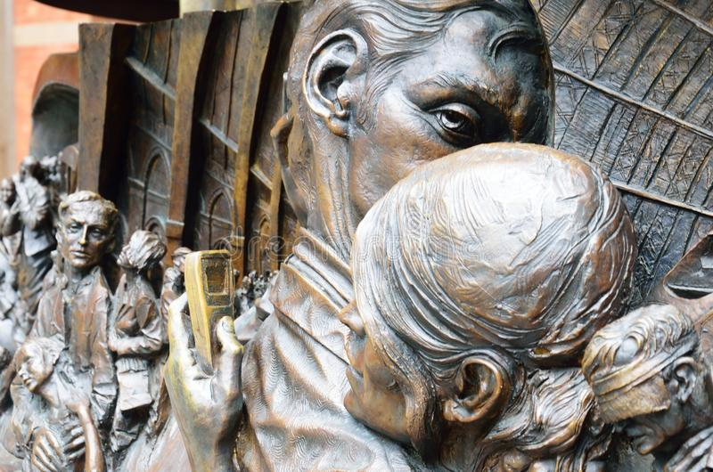 Detail from the meeting place statue royalty free stock photos