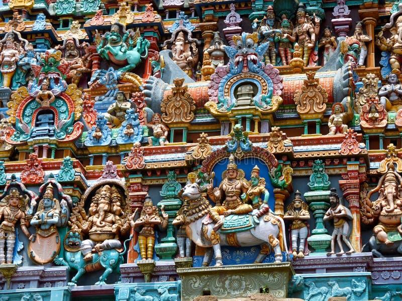 Detail, Menakshi Temple Madurai royalty free stock image