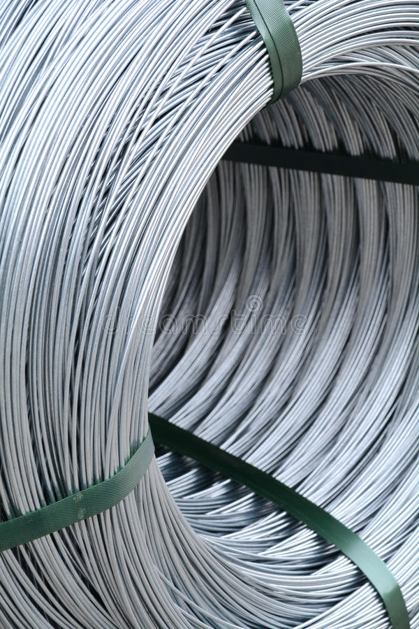 Detail on a metal wire roll royalty free stock images