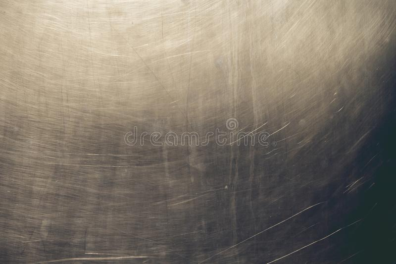 Detail of metalic scraped wall texture or background. Ols metallic wall abstract background or texture stock photo