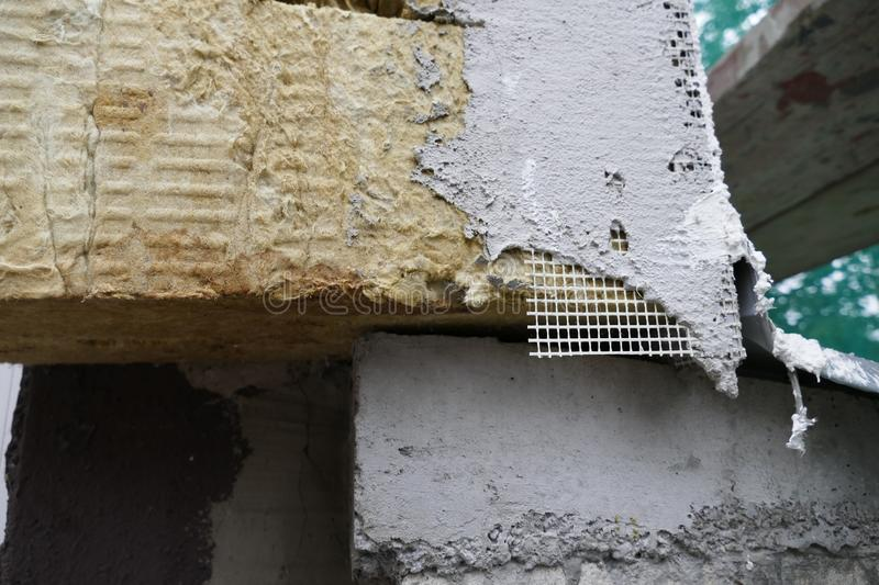 Detail of a mineral insulation pad royalty free stock photography