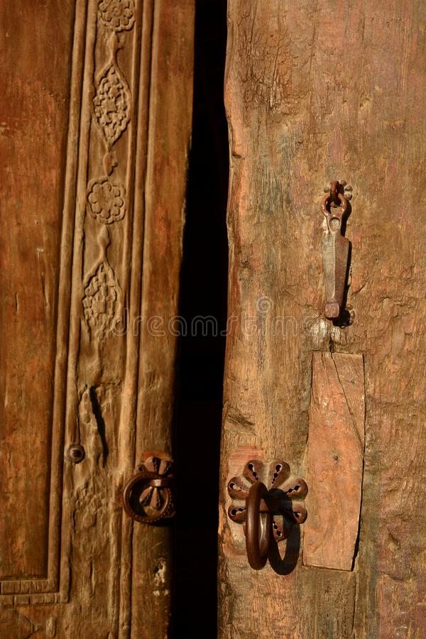 Detail of Mir-i-Arab madrasah entrance door. Po-i-Kalyan complex. Bukhara. Uzbekistan. Bukhara is a city in Uzbekistan, located on the ancient Silk Road, rich in stock photos