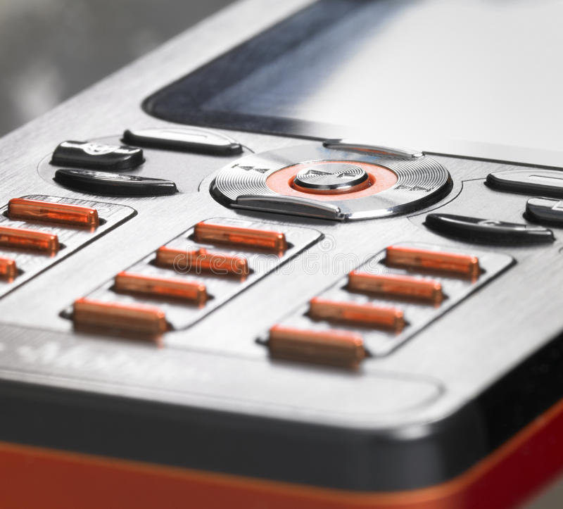 Detail of a mobile phone royalty free stock photo