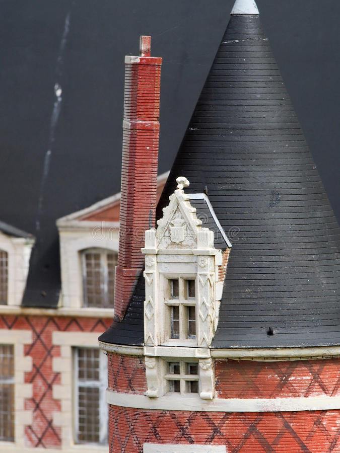 Detail of Model Manor House stock image
