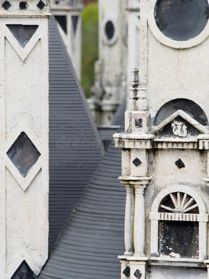 Detail of Model Manor House royalty free stock photo