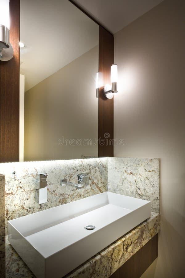 A detail of a modern bathroom royalty free stock photos