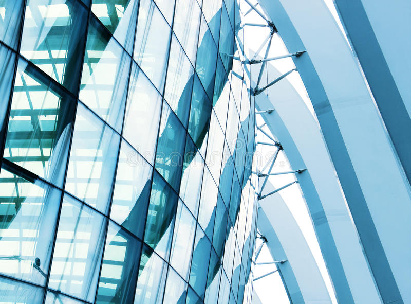 Detail of a modern building made of glass. Detail of a modern building made glass royalty free stock image