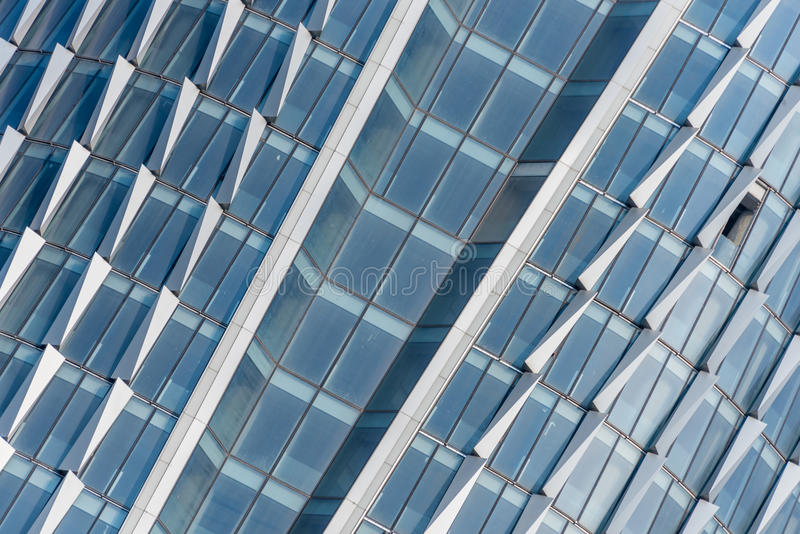 Detail of modern building. Detail shot of skyscrapers in city of China stock photos