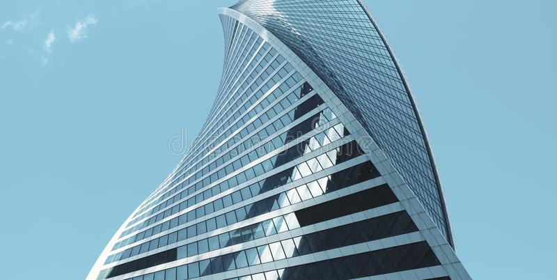 Detail of the modern building in the sky. Skyscraper stock photos